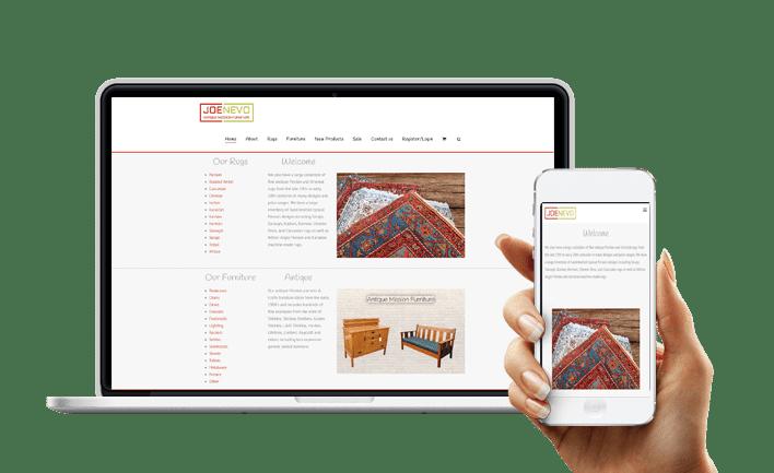 עיצוב ובניית אתר וורדפרס רספונסיבי joenevo חנות וירטואלית מעוף עיצובים