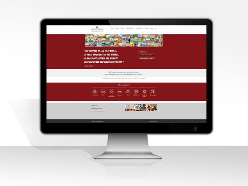עיצוב ובניית אתר תדמיתי לתיירות
