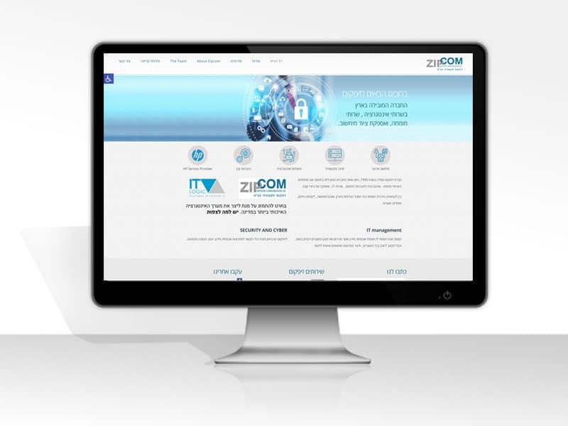 מעוף עיצובים - עיצוב ובניית אתר זיפקום ZIPCOM