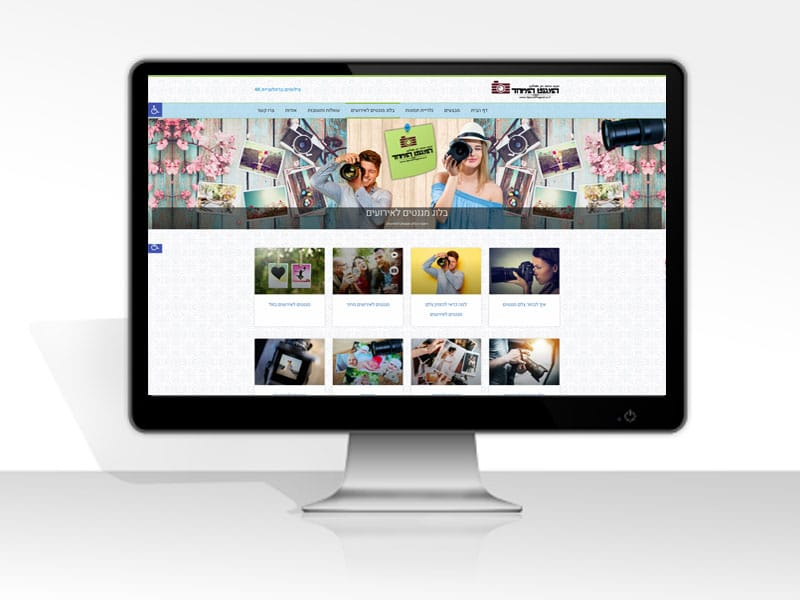 עיצוב ובניית אתר צלם מגנטים לאירועים